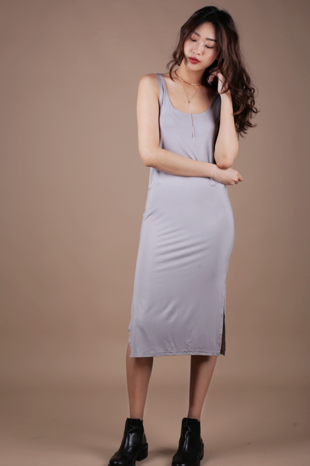 Loke Singlet Dress (Light Grey)