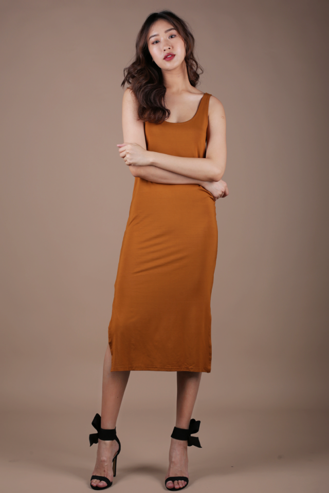 Loke Singlet Dress (Camel)