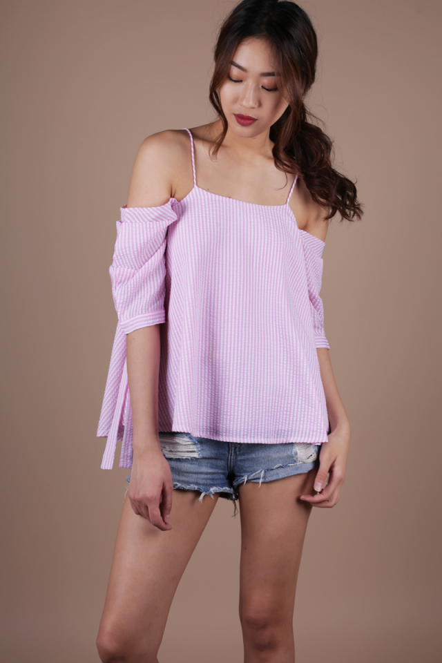 Blake Puff Sleeve Top (Pink)