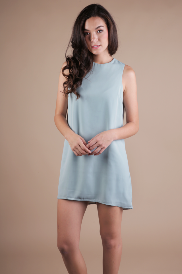 Blanc Swing Dress (Seafoam)