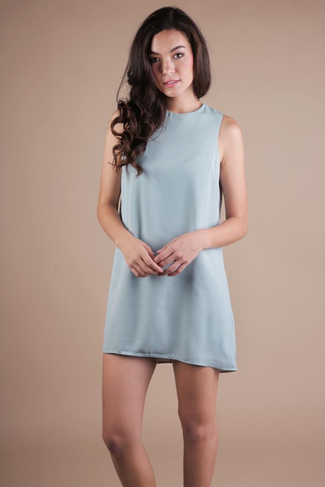 Blanc Swing Dress (Seafoam)