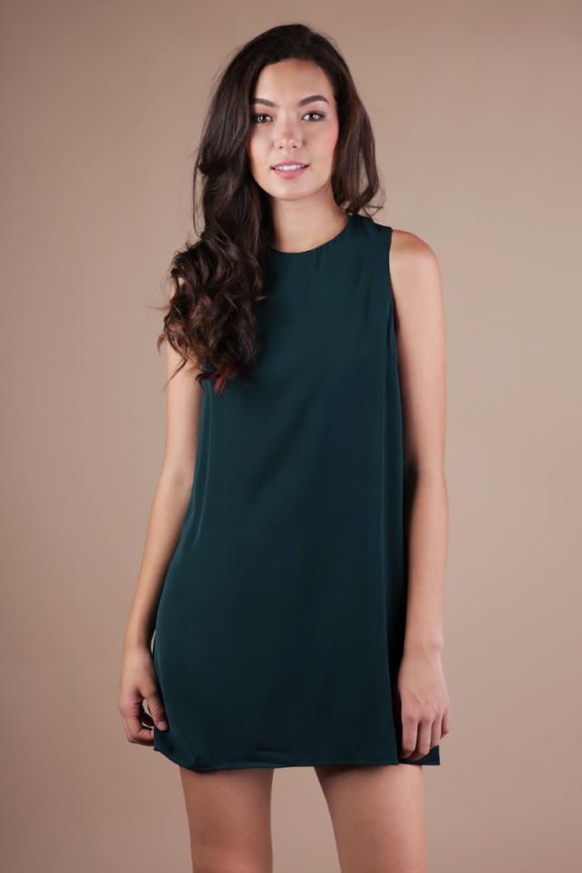 Blanc Swing Dress (Forest Green)