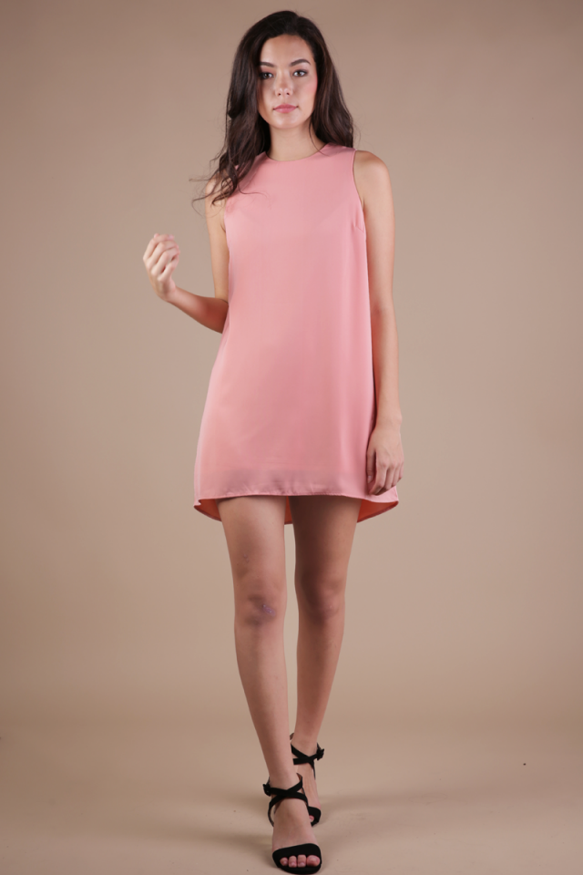 Blanc Swing Dress (Peach Pink)