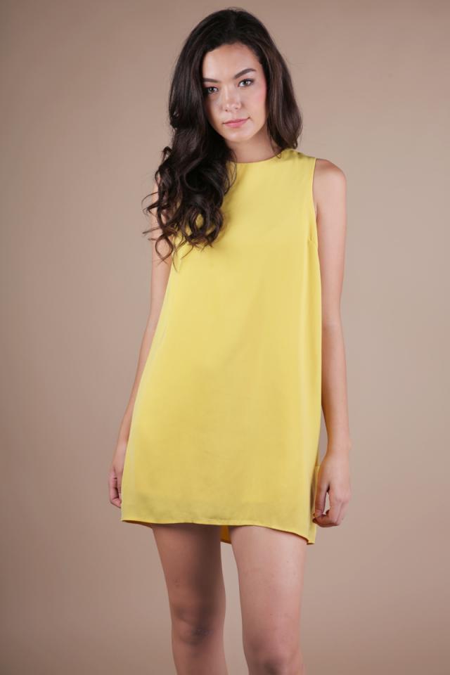 Blanc Swing Dress (Sunshine Yellow)