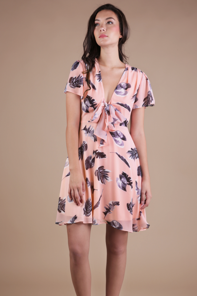 Tula Tie Front Dress (Tropical)