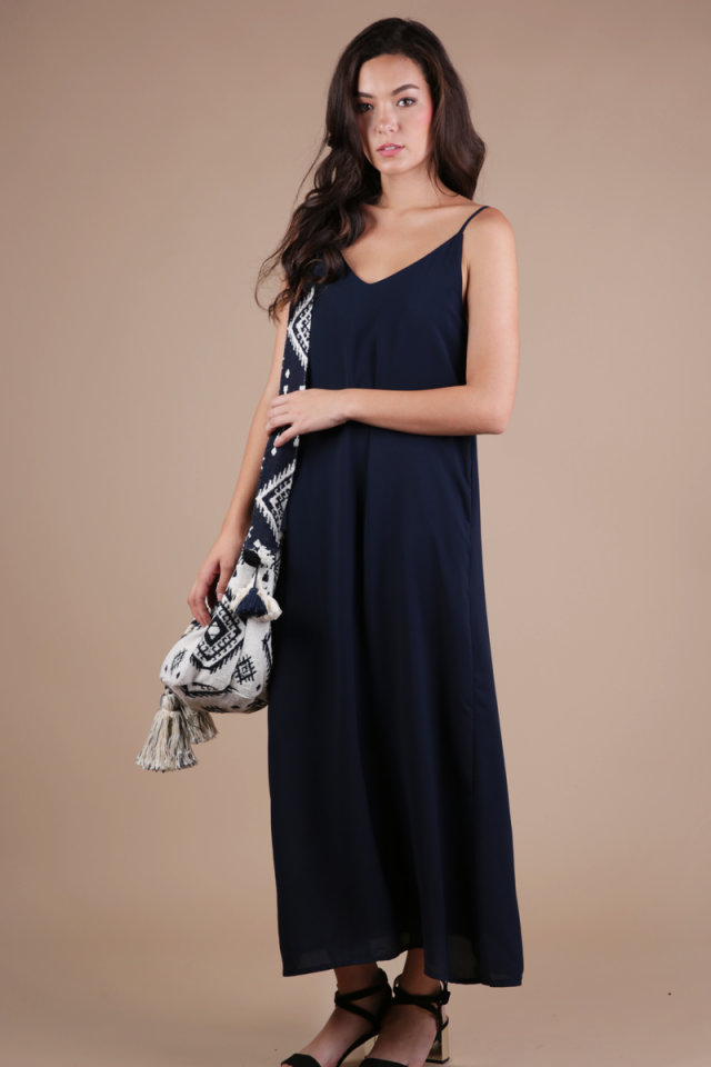 Faye Maxi Dress (Navy)