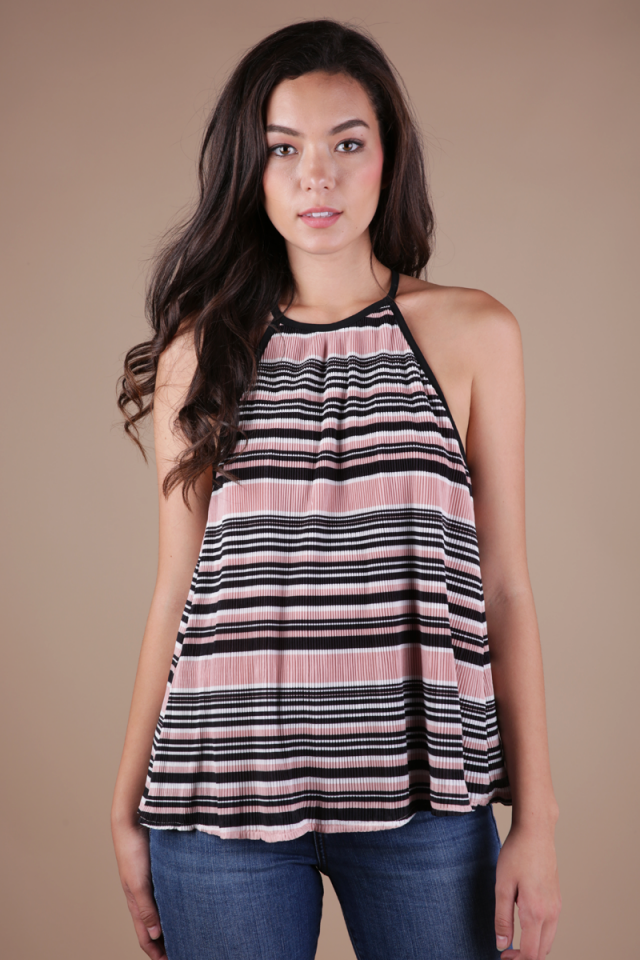 Darcy T-back Top (Pink)