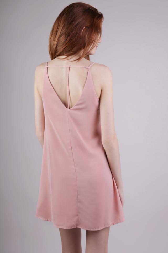 Kelsey Slip Dress (Dusty Blush)
