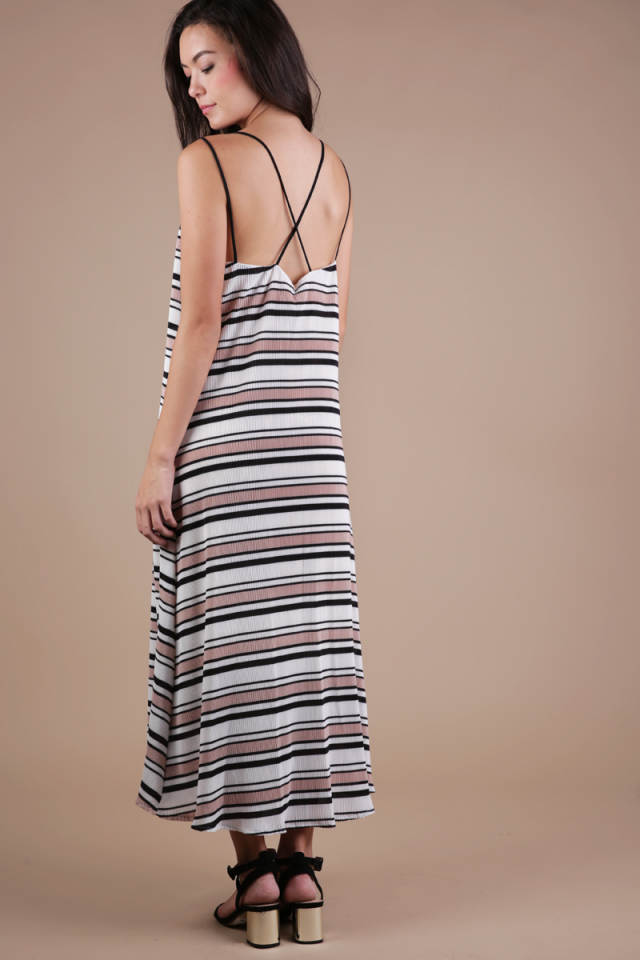 Rhea Cross Back Maxi (Nude)