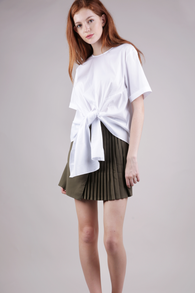 Susy Tie Front Blouse (White)