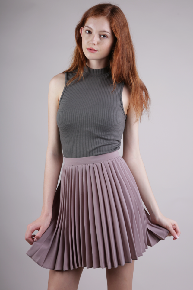 Teri Pleated Skorts (Clay)