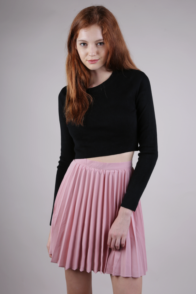 Teri Pleated Skorts (Blush Pink)
