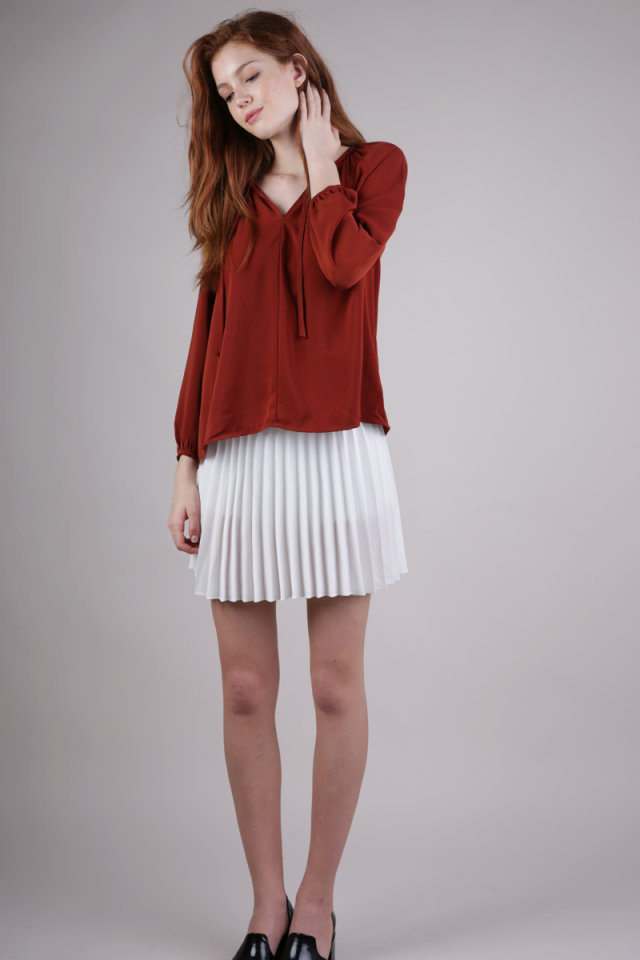 Teri Pleated Skorts (White)