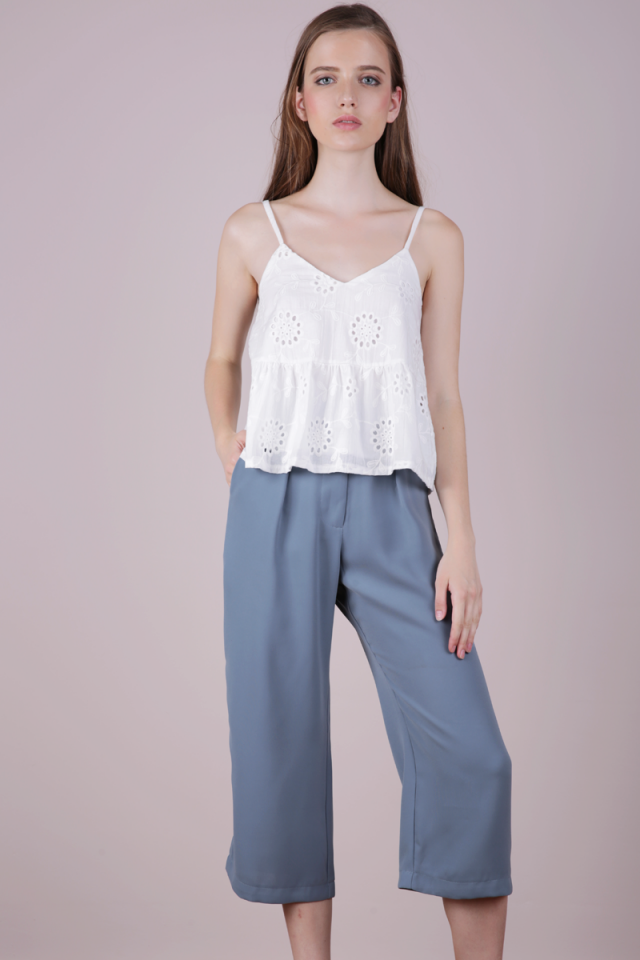 Clan Straight Leg Culottes (Ash Blue)