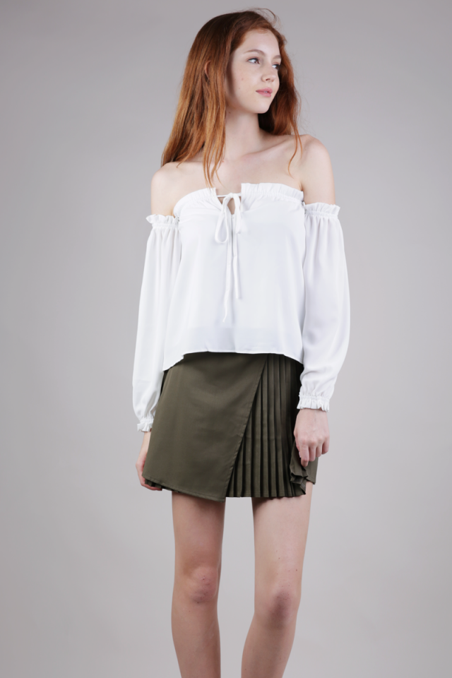 Wilson Pleated Skirt (Olive)