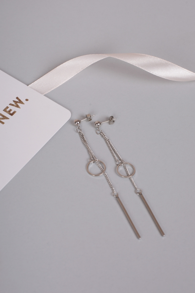 Liob Dangling Earrings (Silver)