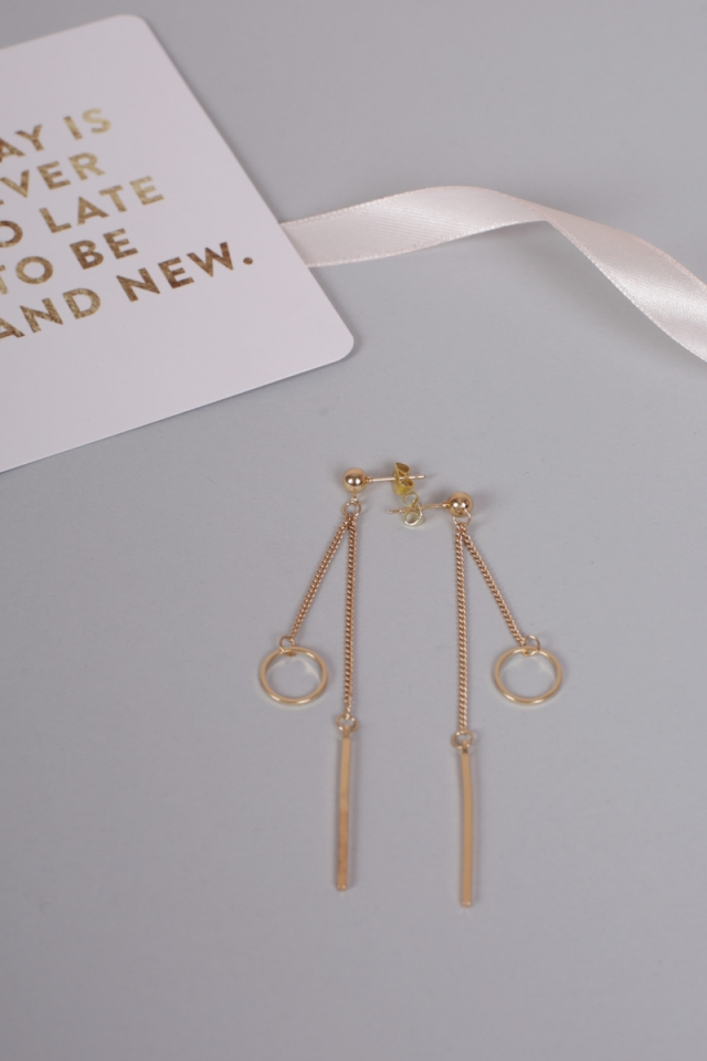 Liob Dangling Earrings (Gold)