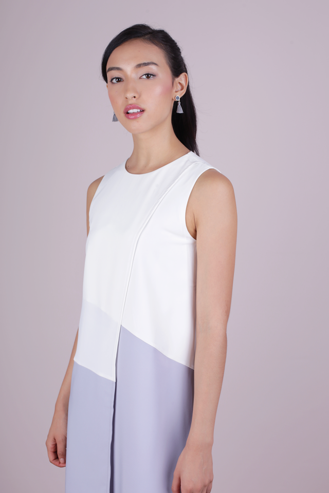 Sofia Shift Dress (White)