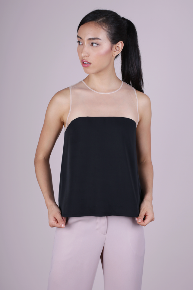 Cel Mesh Top (Black)