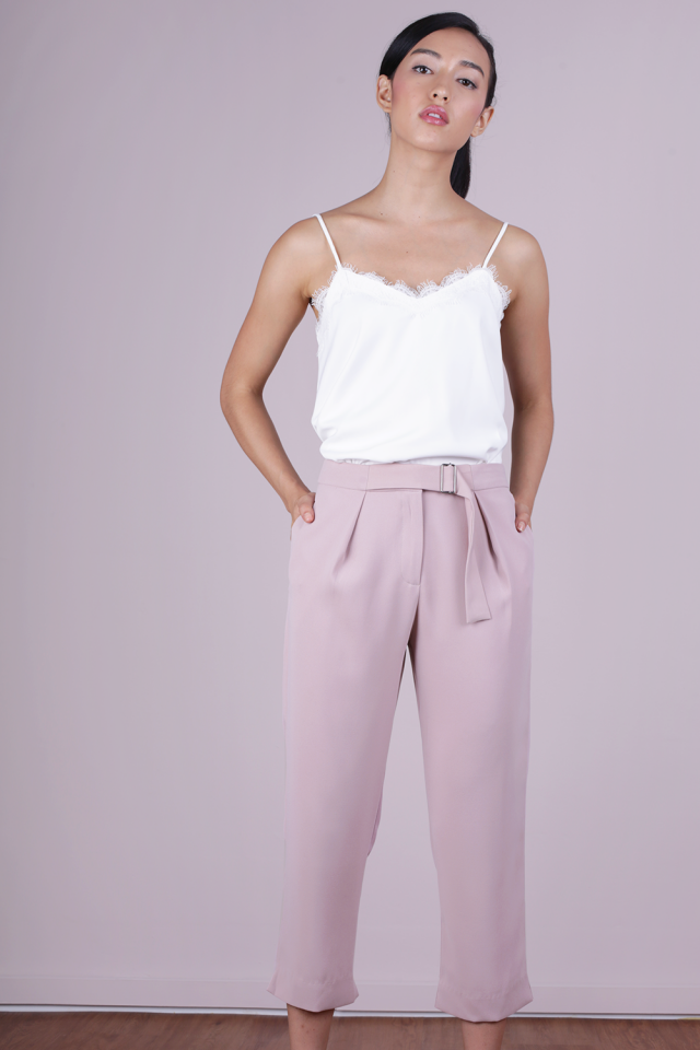 Lowe Peg Leg Pants (Mauve Pink)
