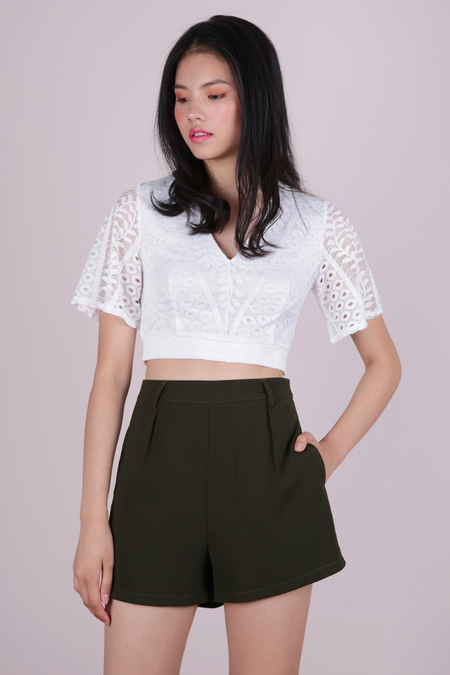Sara Tailored Shorts (Olive)
