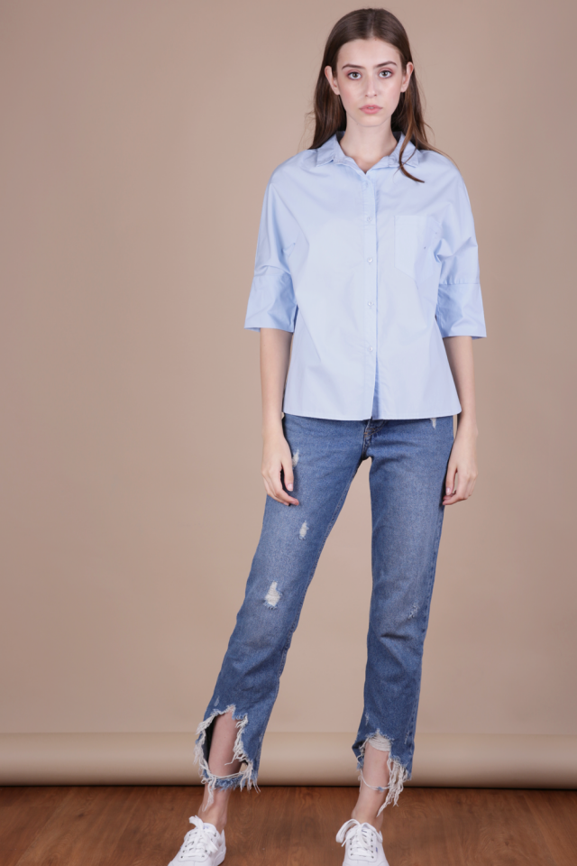 Loni Structured Shirt (Light Blue)