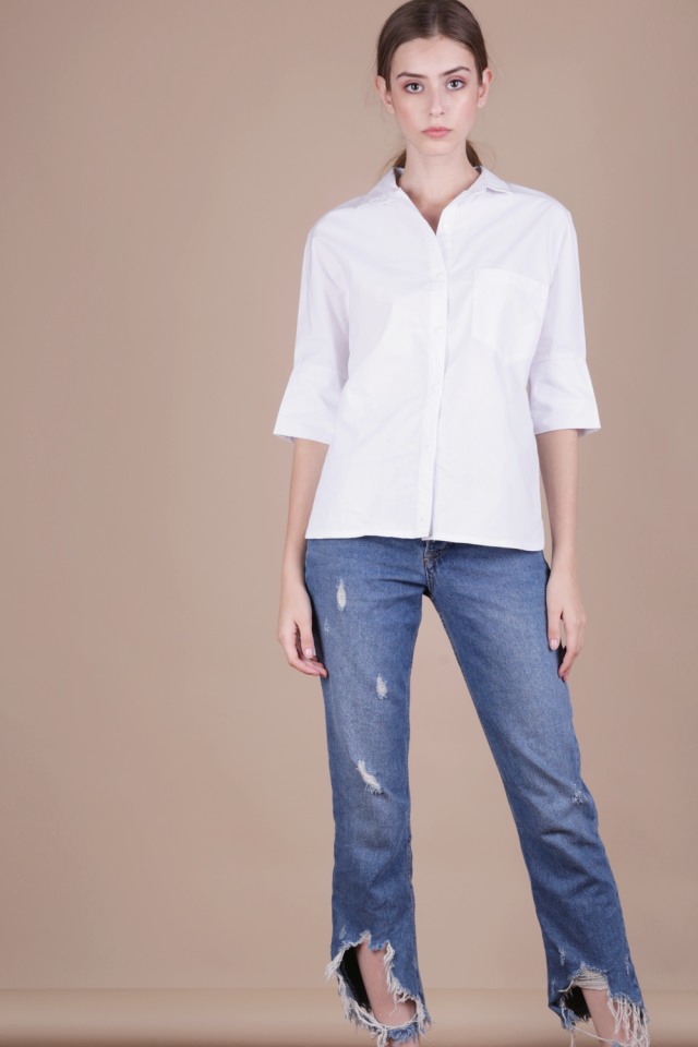 Loni Structured Shirt (White)