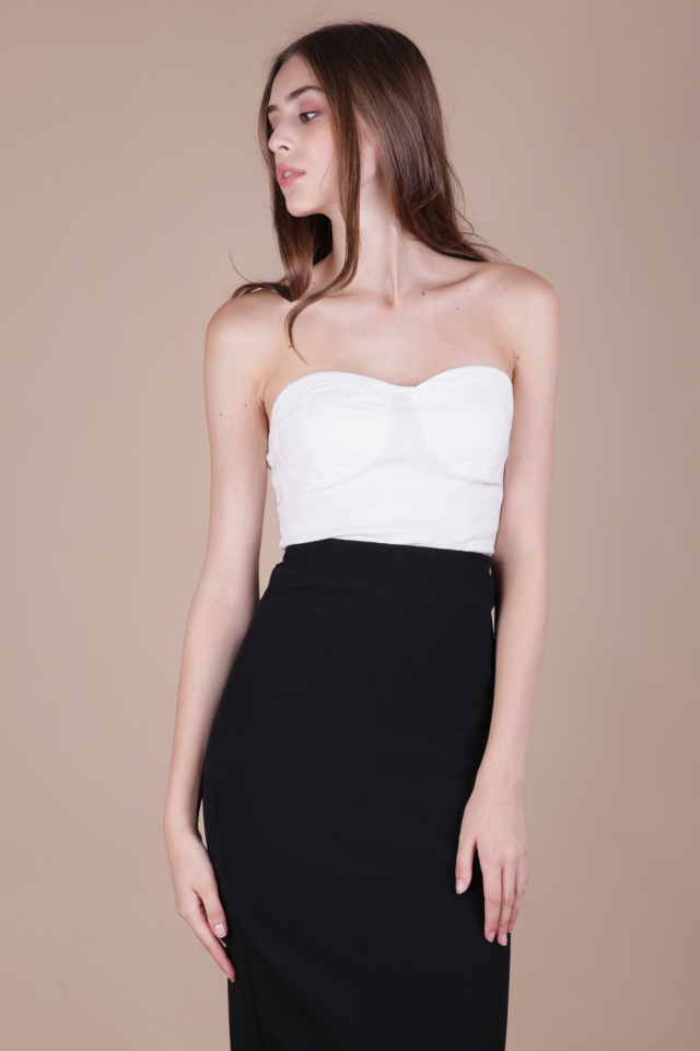 Lindt Bustier Top (White)
