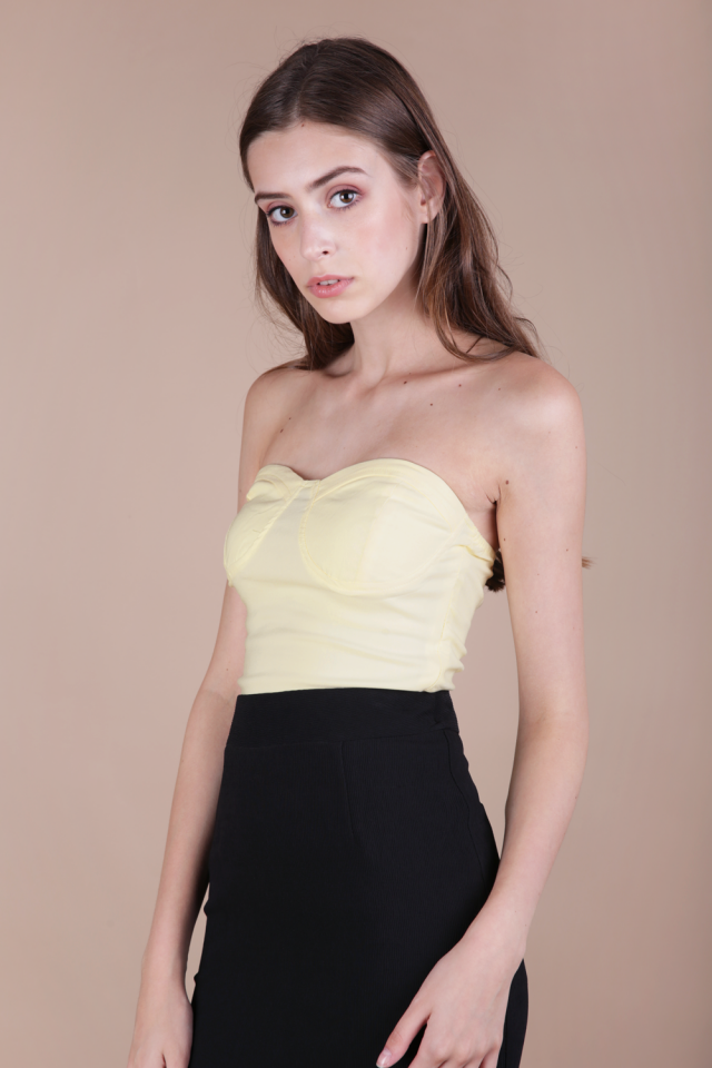 Lindt Bustier Top (Daffodil Yellow)