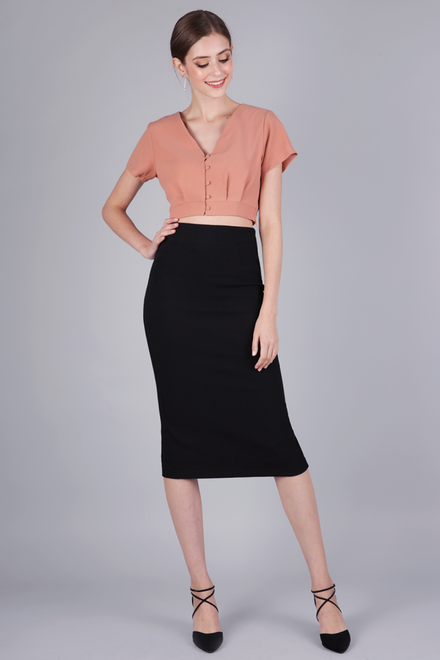 Dene Pencil Skirt (Black)
