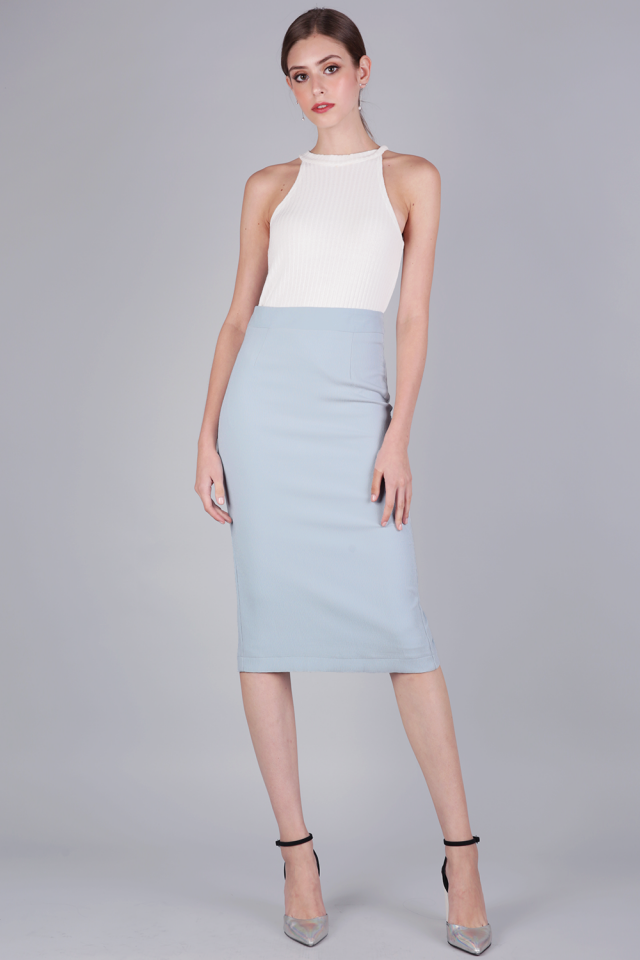 Dene Pencil Skirt (Pastel Blue)