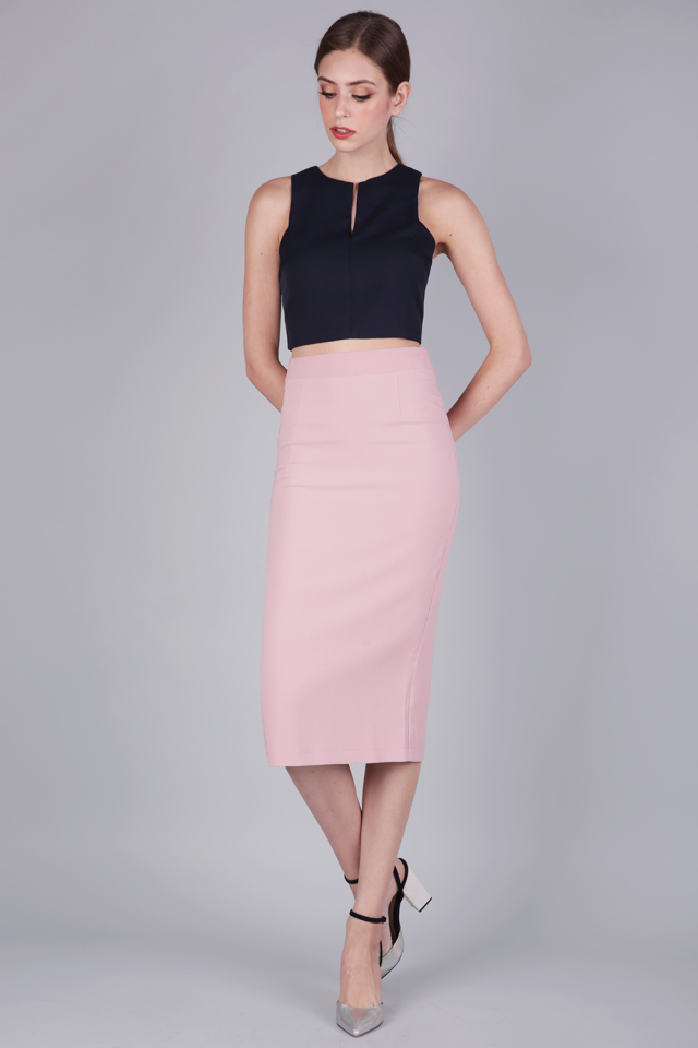 Dene Pencil Skirt (Pastel Pink)