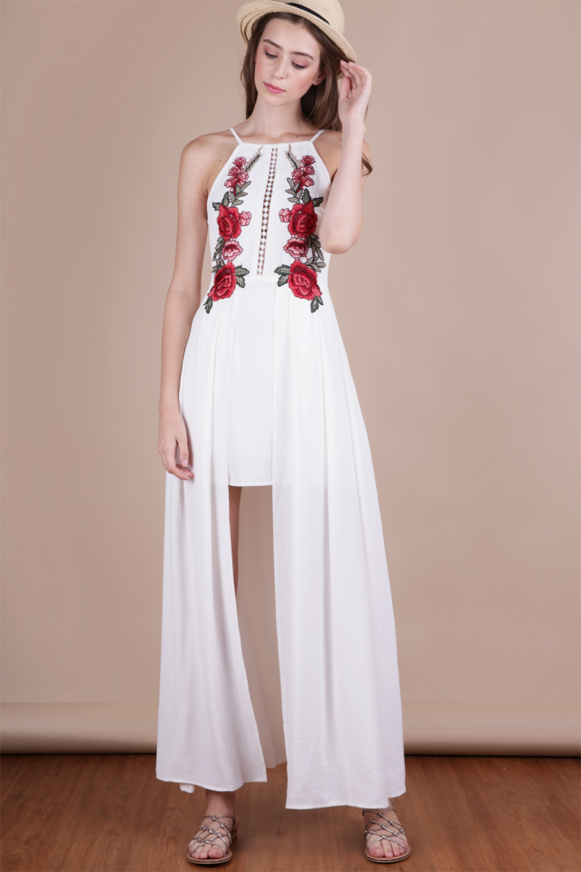 Eve Embroidery Dress (White)