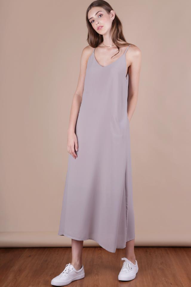 Faye Maxi Dress (Grey)
