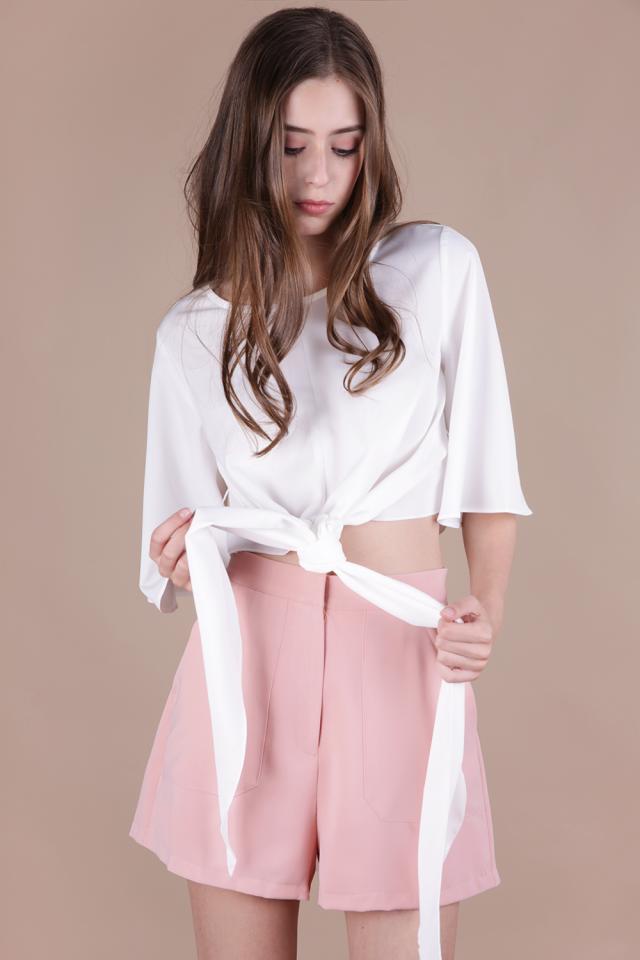 Macy Shorts (Peach Pink)