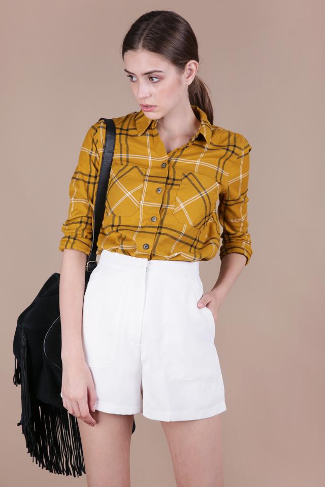 Macy Shorts (White)