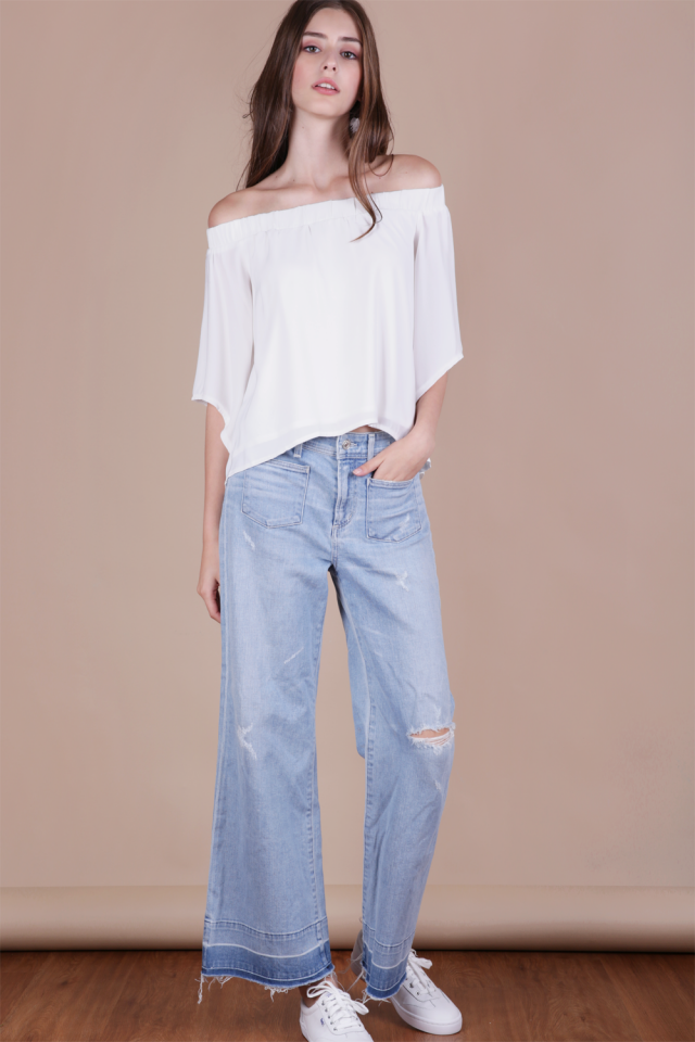 Cheri Off Shoulder Top (White)
