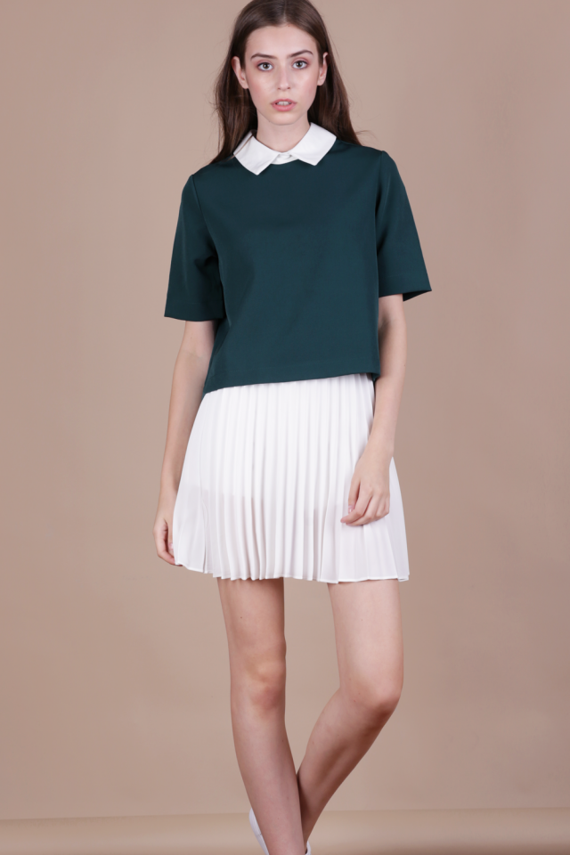 Piper Collar Top (Emerald)