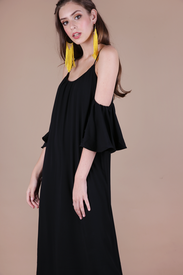 Ross Midi Dress (Black)