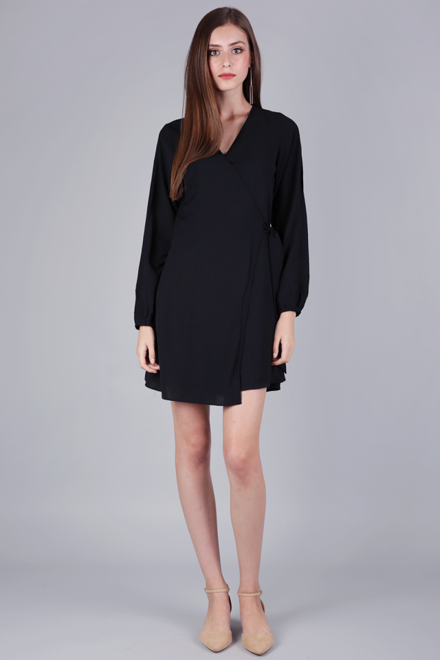 Sam Split Sleeve Dress (Black)