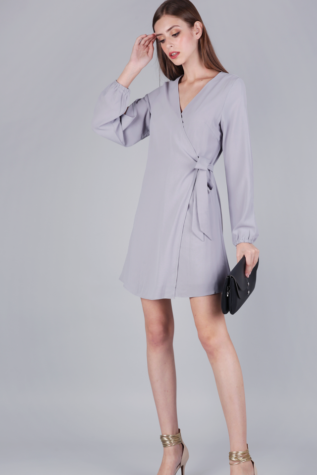 Sam Split Sleeve Dress (Lilac Grey)
