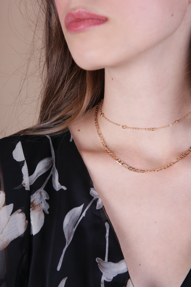 Iosta Chain Choker Set (Gold)