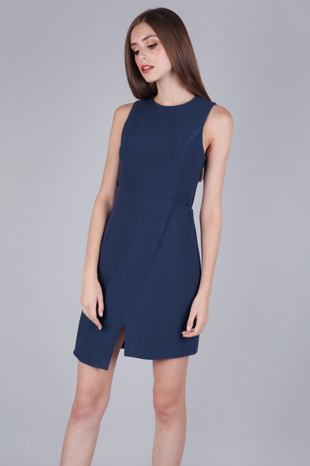 Tuv Shift Dress (Navy)