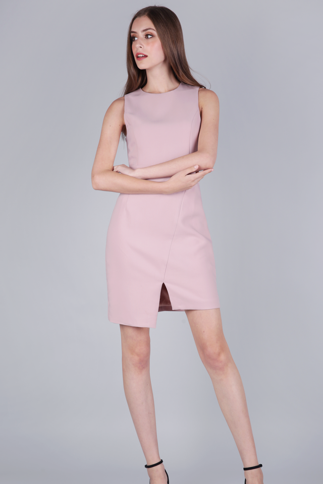 Tuv Shift Dress (Petal Pink)