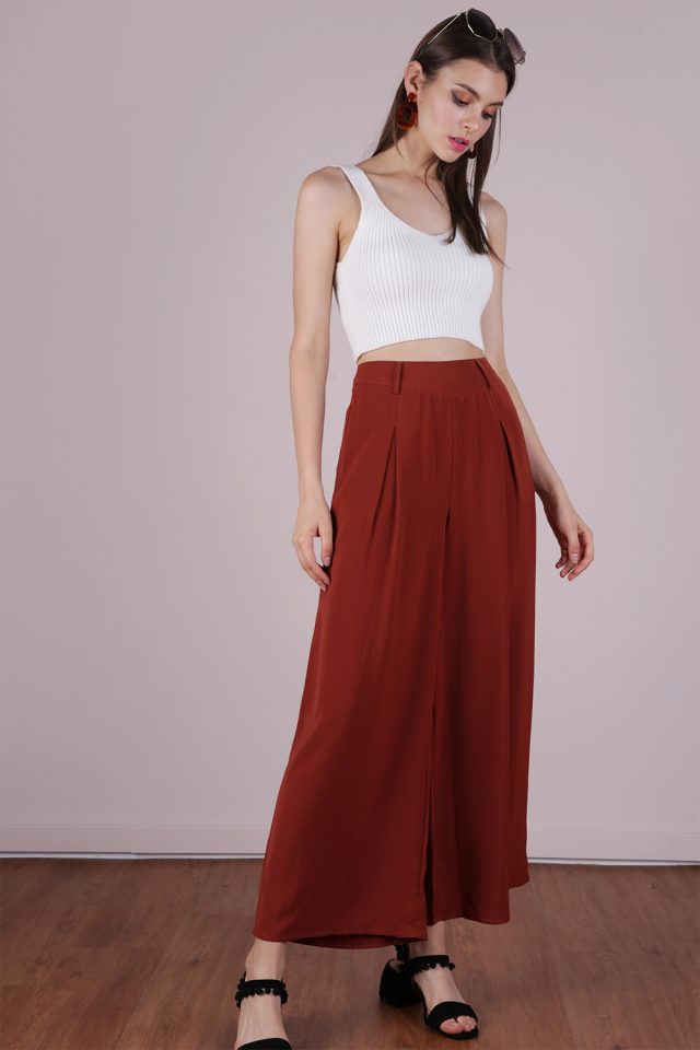 Bondi Flowy Pants (Rust)