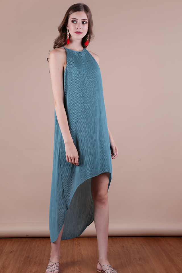 Diya Pleated Dress (Aquamarine)