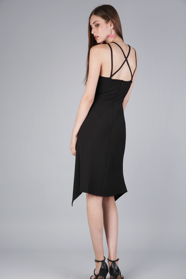 Jenna Cocktail Dress (Black)