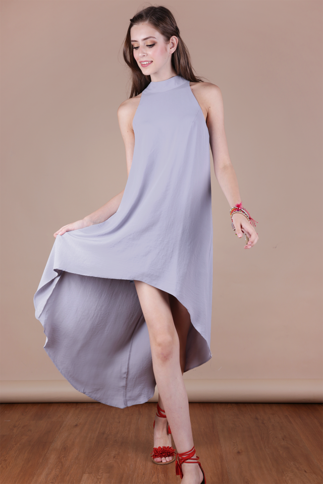 Brielle Fishtail Dress (Pale Lilac)