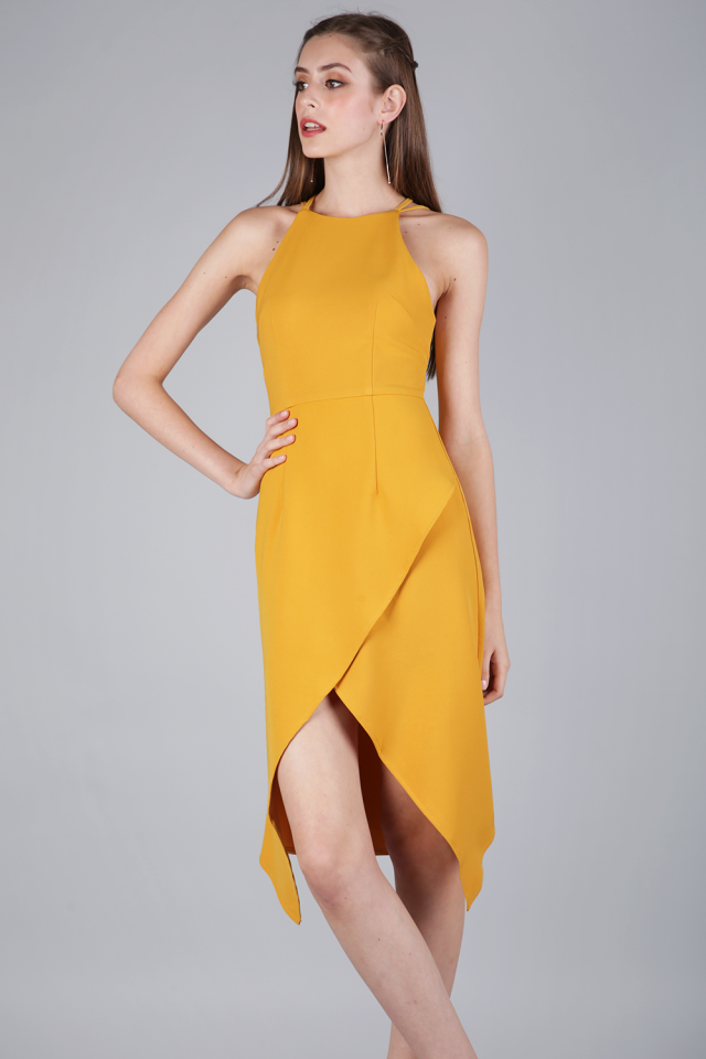 Jenna Cocktail Dress (Saffron)