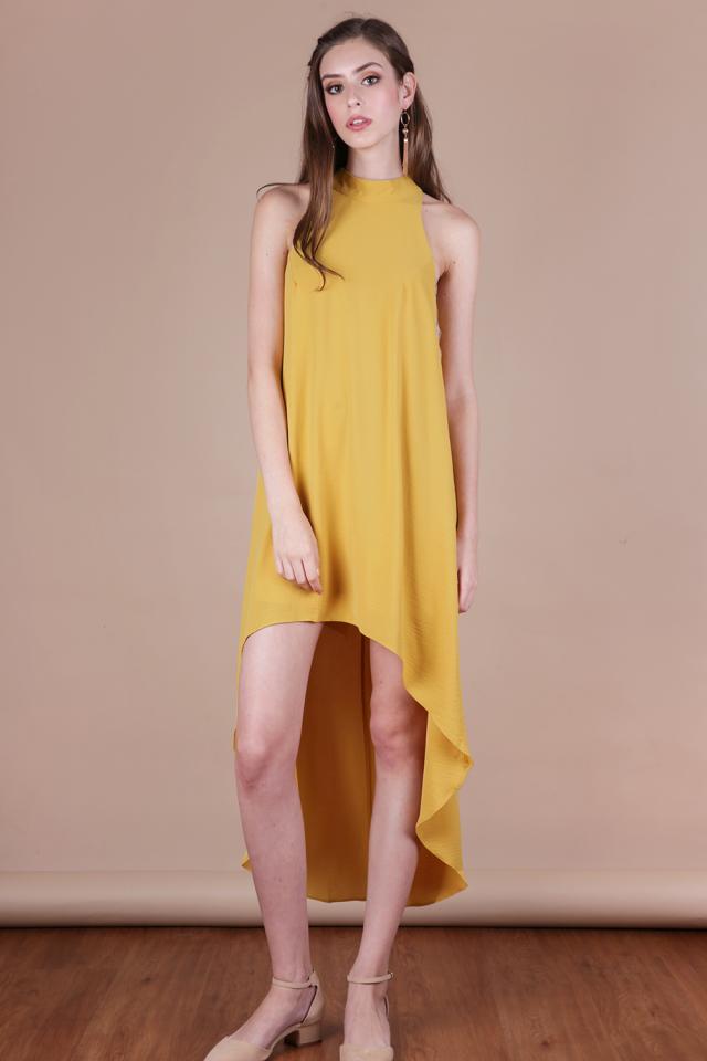 Brielle Fishtail Dress (Honey)
